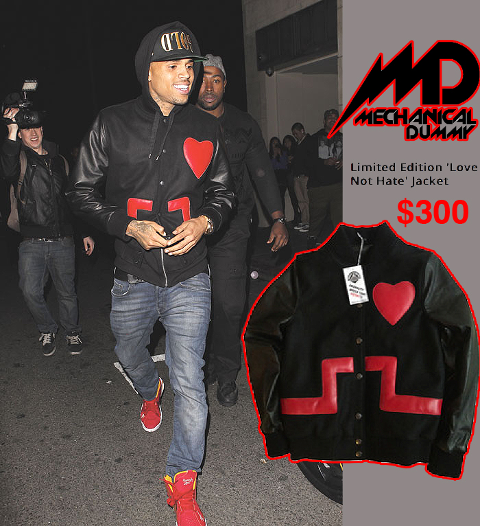 Chris Brown's Love-Hate Jacket