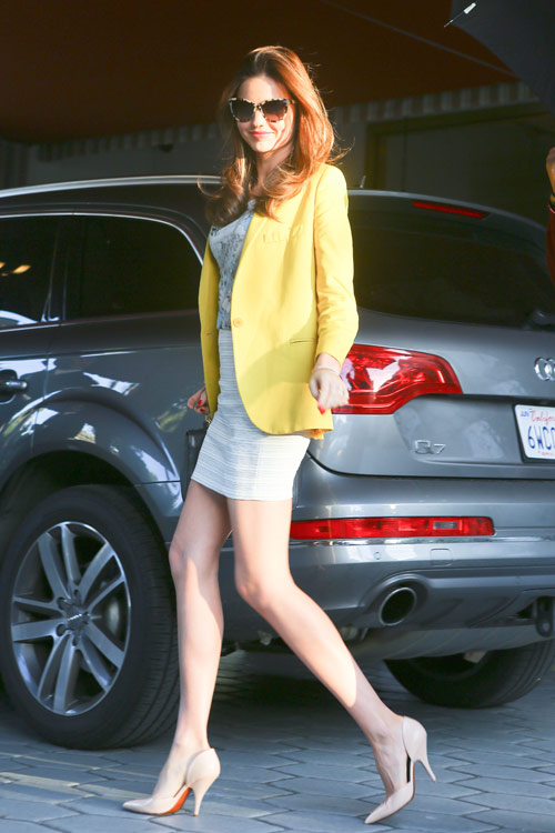 Miranda Kerr yellow blazer